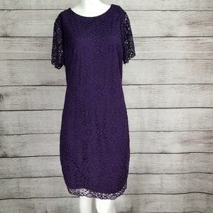 Laundry by Shelli Segal 14 Lace Cocktail Dress